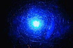 Abstrakter blauer Raumhintergrund Stockfotografie