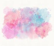 Abstrakter blauer rosa Aquarellhintergrund, Scheidung, Stelle Lizenzfreie Stockfotos
