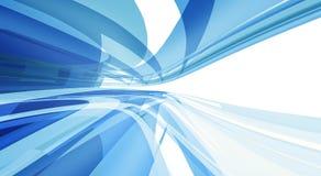 Abstrakter blauer sauberer Hintergrund mit copyspace Stockfotografie