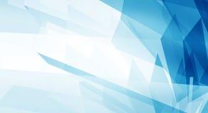 Abstrakter blauer sauberer Hintergrund mit copyspace Stockbild