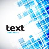 Abstrakter blauer technischer Hintergrund Stockfotografie
