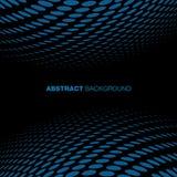 Abstrakter blauer Technologie-Halbtonhintergrund Stockfoto