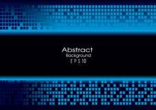 Abstrakter blauer Technologiehintergrund Lizenzfreies Stockfoto