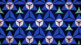 Abstrakter blauer Trugbild bokeh Musterhintergrund Stockbild