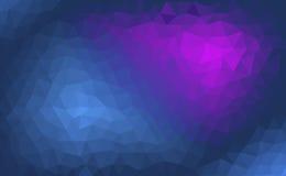 Abstrakter blauer und purpurroter Hintergrund mit einem polygonalen Muster Stockfotografie