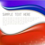 Abstrakter blauer und roter Hintergrund lizenzfreie abbildung