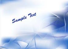 Abstrakter blauer vektorhintergrund Stockbild