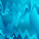 Abstrakter blauer wellenförmiger Hintergrund Lizenzfreies Stockbild