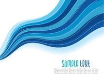 Abstrakter blauer Wellenhintergrund Lizenzfreies Stockfoto