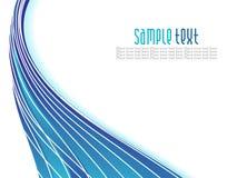 Abstrakter blauer Wellenhintergrund Lizenzfreies Stockbild