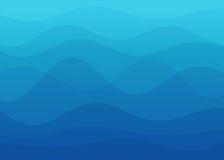 Abstrakter blauer Wellenhintergrund lizenzfreie stockbilder