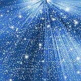 Abstrakter blauer Winter Weihnachtshintergrund Stockbild