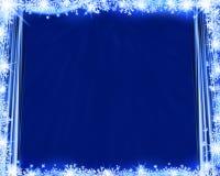 Abstrakter blauer Winterhintergrund Lizenzfreie Stockfotografie