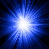 Abstrakter Blaulichtexplosionshintergrund Lizenzfreie Stockbilder