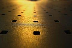 Abstrakter Blick der Metallbank Lizenzfreie Stockbilder