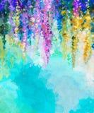 Abstrakter Blumenölgemäldehintergrund lizenzfreie abbildung