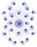 Abstrakter Blumen-Art Background Vector Illustration Stockfoto