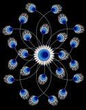Abstrakter Blumen-Art Background Vector Illustration Lizenzfreie Stockfotografie