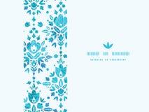 Abstrakter Blumen-Damast-horizontales nahtloses Muster vektor abbildung