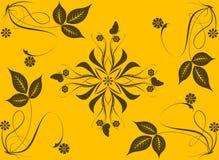 Abstrakter Blumen- und Blatthintergrund Lizenzfreie Abbildung