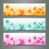 Abstrakter Blumen-Vektor-Hintergrund/Broschüre Templ Lizenzfreies Stockbild