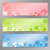 Abstrakter Blumen-Vektor-Hintergrund/Broschüren-Schablone/Fahne. Stockfotos