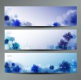 Abstrakter Blumen-Vektor-Hintergrund/Broschüren-Schablone/Fahne. Stockbild