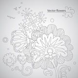 Abstrakter Blumenaufbau Lizenzfreies Stockfoto