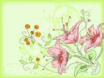 Abstrakter Blumenfeldvektor Stockfoto