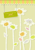 Abstrakter Blumenhintergrund. Lizenzfreie Stockfotos