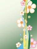 Abstrakter Blumenhintergrund. Lizenzfreies Stockbild