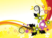 Abstrakter Blumenhintergrund. Stockfotografie