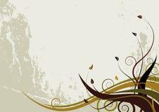 Abstrakter Blumenhintergrund - grunge Artwellen Stock Abbildung