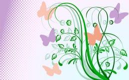Abstrakter Blumenhintergrund mit Basisrecheneinheiten. Stockfotos
