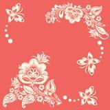 Abstrakter Blumenhintergrund mit Basisrecheneinheiten Lizenzfreies Stockbild