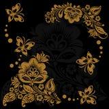 Abstrakter Blumenhintergrund mit Basisrecheneinheiten stock abbildung