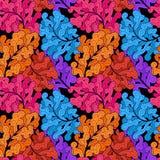 Abstrakter Blumenhintergrund mit Blättern Stockbild