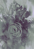 Abstrakter Blumenhintergrund mit grauem Ton vektor abbildung