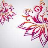 Abstrakter Blumenhintergrund mit orientalischen Blumen. Stockfoto