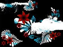 Abstrakter Blumenhintergrund mit Platz für Ihr tex Stockfoto