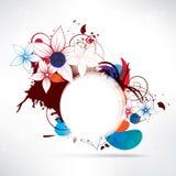 Abstrakter Blumenhintergrund mit Rahmen für Text Lizenzfreie Stockfotografie