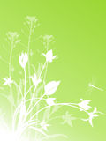 Abstrakter Blumenhintergrund mit Tulpen lizenzfreie abbildung