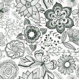 Abstrakter Blumenhintergrund, nahtloses Muster des Sommerthemas, vecto Stockfotografie