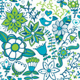Abstrakter Blumenhintergrund, nahtloses Muster des Sommerthemas, Wand Lizenzfreies Stockfoto