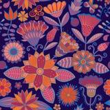 Abstrakter Blumenhintergrund, nahtloses Muster des Sommerthemas, Wand Lizenzfreie Stockfotos