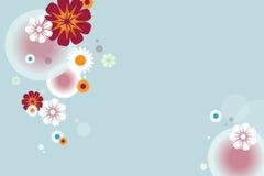 Abstrakter Blumenhintergrund - vecor Stockfoto
