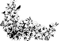 Abstrakter Blumenrand Lizenzfreie Stockfotografie