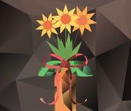 Abstrakter Blumenstrauß im Vase - Polygongraphiken Lizenzfreie Stockbilder
