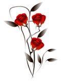 Abstrakter Blumenstrauß von Rosen Stockfoto