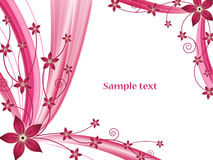 Abstrakter Blumenvektorhintergrund Stockfotografie